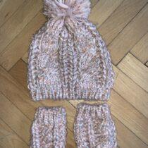 Čepice+ rukavice, velikost 74-86, cp 2695